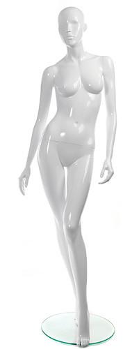 """Женский манекен для одежды """"Блестящие"""" Гл-2 белый"""