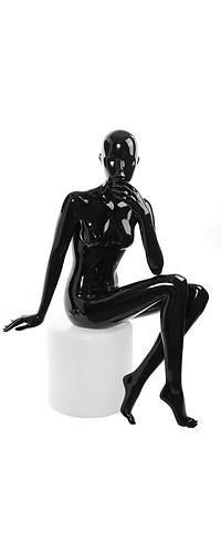 """Женский манекен для одежды """"Блестящие"""" Гл-3 чёрный"""