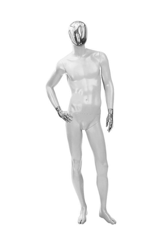 """Мужские манекены для одежды """"Блестящие"""" (частично) хром"""