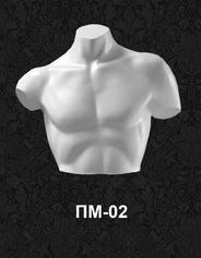 """Мужские манекены полуторсы для одежды """"Четверть"""" ПМ-02"""
