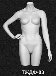 Манекен-торс для одежды  женский 03