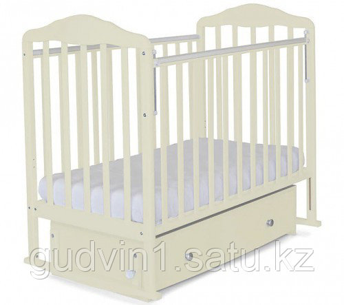 """Кровать детская """"Митенька"""" поперечный маятник с ящ.  163001 белая"""