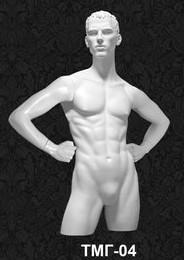 Манекен-торс для одежды мужской с головой 04