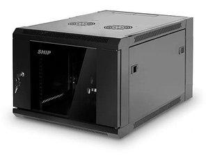 Шкаф настенный, SHIP, 5606.01.100, SE серия, 19'' 6U, 570*600*380 мм, Ш*Г*В, IP20, Чёрный