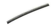 Трос стальной оц. DIN 3055 в оплетке ПВХ 5мм (Продается только бухтами)
