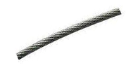 Трос стальной оц. DIN 3055 в оплетке ПВХ 12мм (Продается только бухтами)