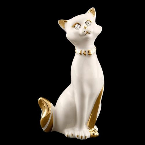 Статуэтка из керамики Галантная кошка. Италия ручная работа