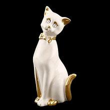 Статуэтка Кот-галант. Ручная работа, керамика. Италия