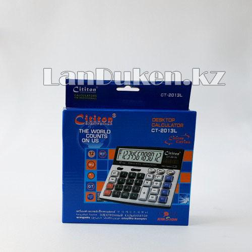Калькулятор настольный 12-разрядный Cititon CT-2013L - фото 1