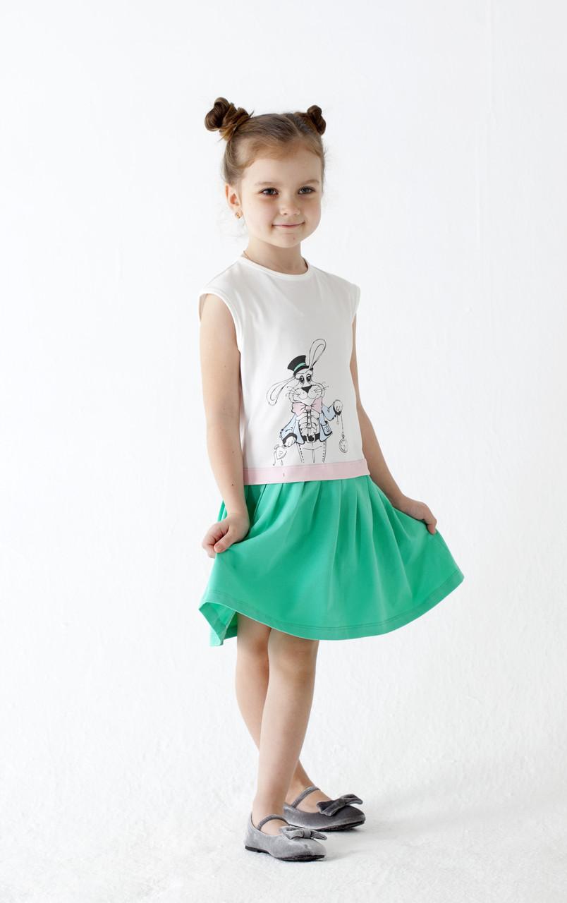 """Платье для девочки """"Алиса"""" зеленое"""