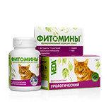 Фитомины с урологическим фитокомплексом для кошек, 100таб.