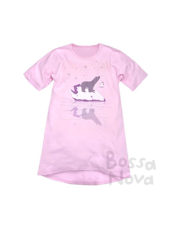 Сорочка ночная для девочек БоссаНова (розовая)