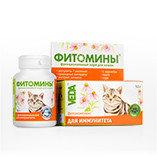 Фитомины с фитокомплексом для иммунитета кошки, 100таб.