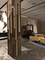 Обрамление колонн, стен. Изготовление перегородок, откосов и обрамлений проемов, лифтов, дверей, окон и т.п.