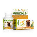 Фитомины против аллергии для собак, 100 таблеток.