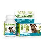 Фитомины с фитокомплексом для укрепления и восстановления суставов собак, 100 таблеток.