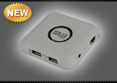 USB сервер UF714 USB 2.0 - 4 порта, 1000M
