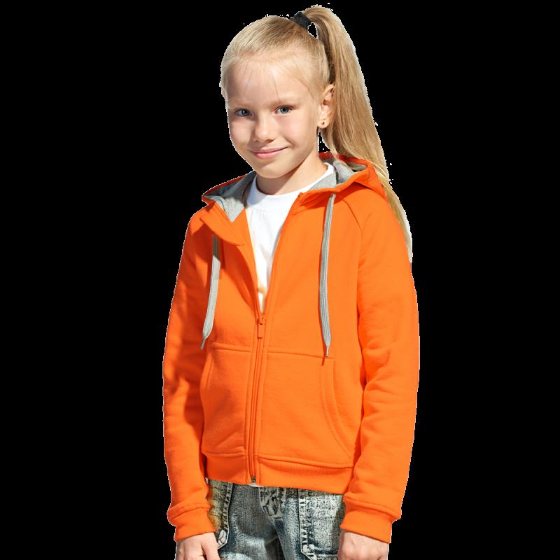 Детская толстовка, StanStyleJunior, 17J, Оранжевый-Серый меланж (28/50), 12 лет