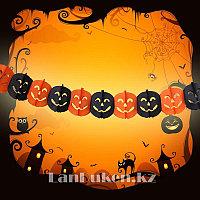 Бумажная гирлянда Тыква для Хэллоуина (Halloween)