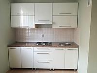 Кухонный гарнитур акрил волна светлая