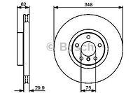 BOSCH Тормозной диск перед E-70-71 (348mm) BMW X5 E70/F15 986479436, фото 1