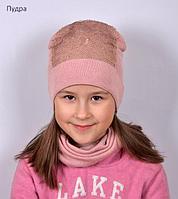 Шапка детская деми для девочки Пайетка