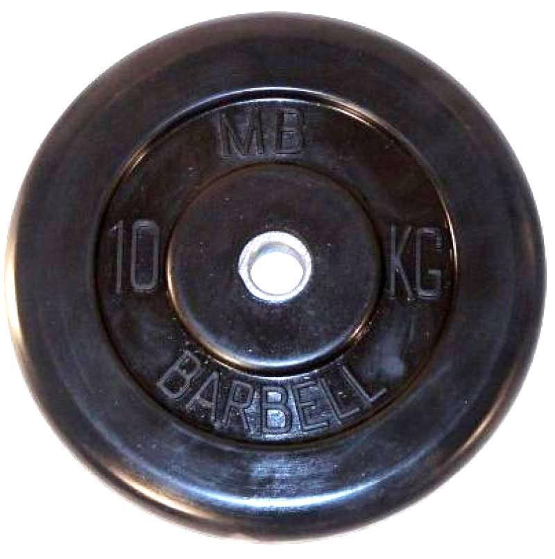 Диск обрезиненный Barbell 10 кг (Д -26-31-50-мм)