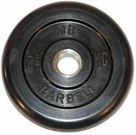 Диск обрезиненный Barbell 2,5 кг (Д -26-31-50-мм)