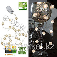Гирлянда Мраморные шары 15 диодов на батарейке в Алматы