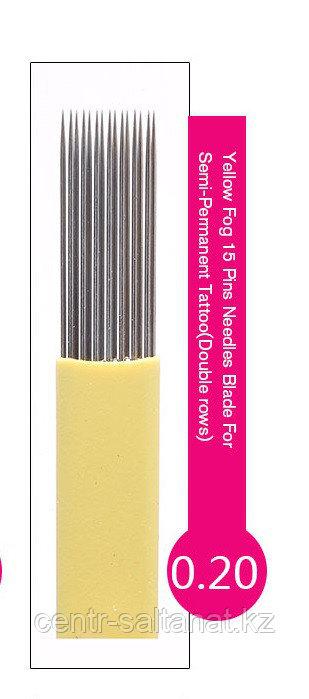 Иглы-лезвие(7) в 2 рядя в Астане для нанесение микроблейдинга, перманентного макияжа бровей