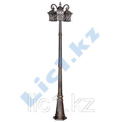 Стилизованный 3-рожковый садово-парковый светильник E27