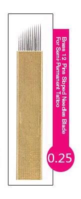 Иглы-лезвие PSD (12) в Астане для нанесение микроблейдинга, перманентного макияжа (татуажа) бровей