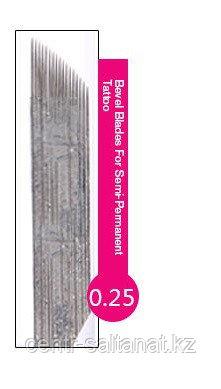 Иглы лезвие (14) в Нур-Султане для нанесение микроблейдинга, перманентного макияжа (татуажа) бровей