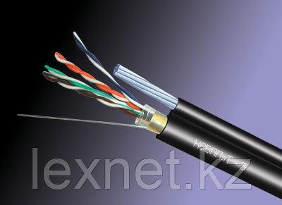 Кабель FTP 5e PE, для внешней прокладки с тросом 4*2*0,52, фото 2