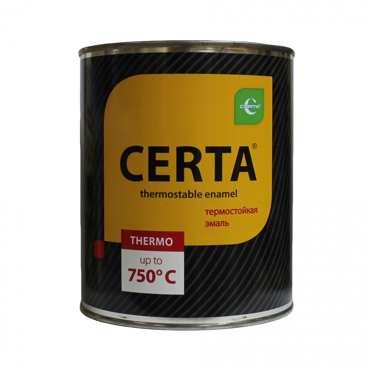 """Эмаль """"Церта""""термостойкая 25кг +750С Черный"""