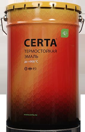 """Эмаль """"Церта""""термостойкая 25кг +500С Красно-коричневый"""