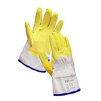 Перчатки стекольщика полуоблитые латексом