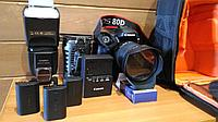 Canon 80D комплект для фото видеосъемок б.у., фото 1