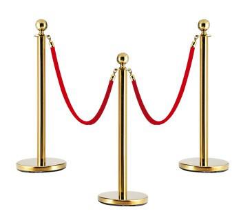 Парфлекс декоративный ленточный барьер (золотой)
