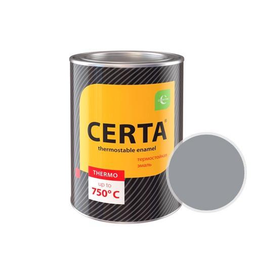 """Эмаль """"Церта""""термостойкая 0,8кг +400С Серый"""