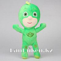 Мягкая игрушка Гекко (Грег) из мультсериала Герои в масках на липучке 30 см