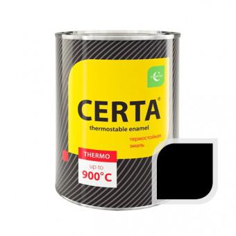 """Эмаль """"Церта""""термостойкая 0,8кг +900С Черный"""