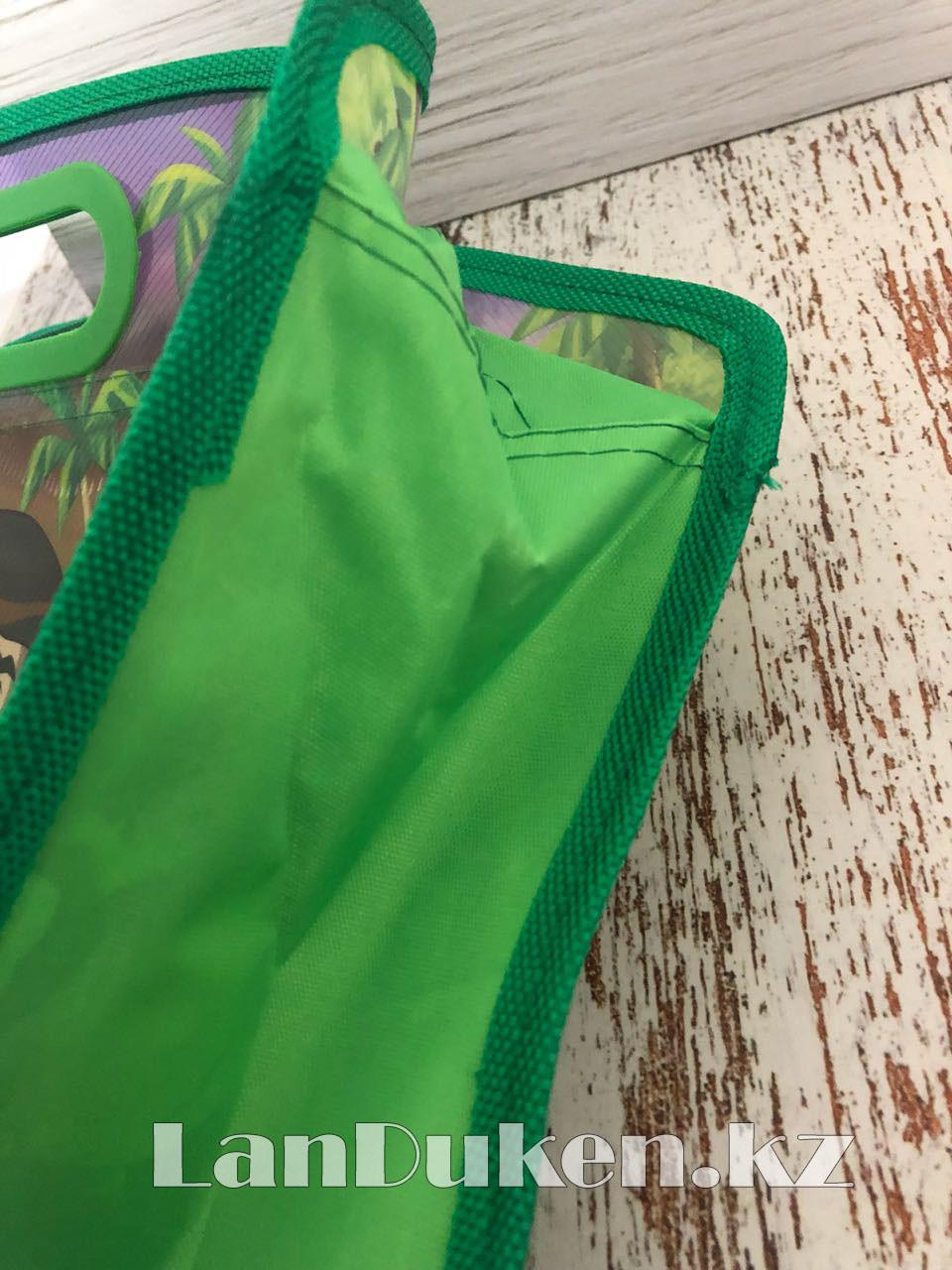 Детская папка-портфель с встроенными пластиковыми ручками Бэн Тэн (Ben 10) формат A4 зеленая - фото 2