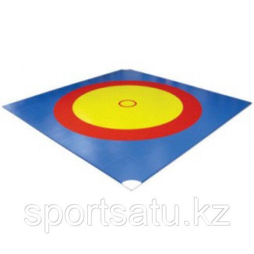 Ковер борцовский трехцветный 12 х 12 м + маты 5см НПЭ