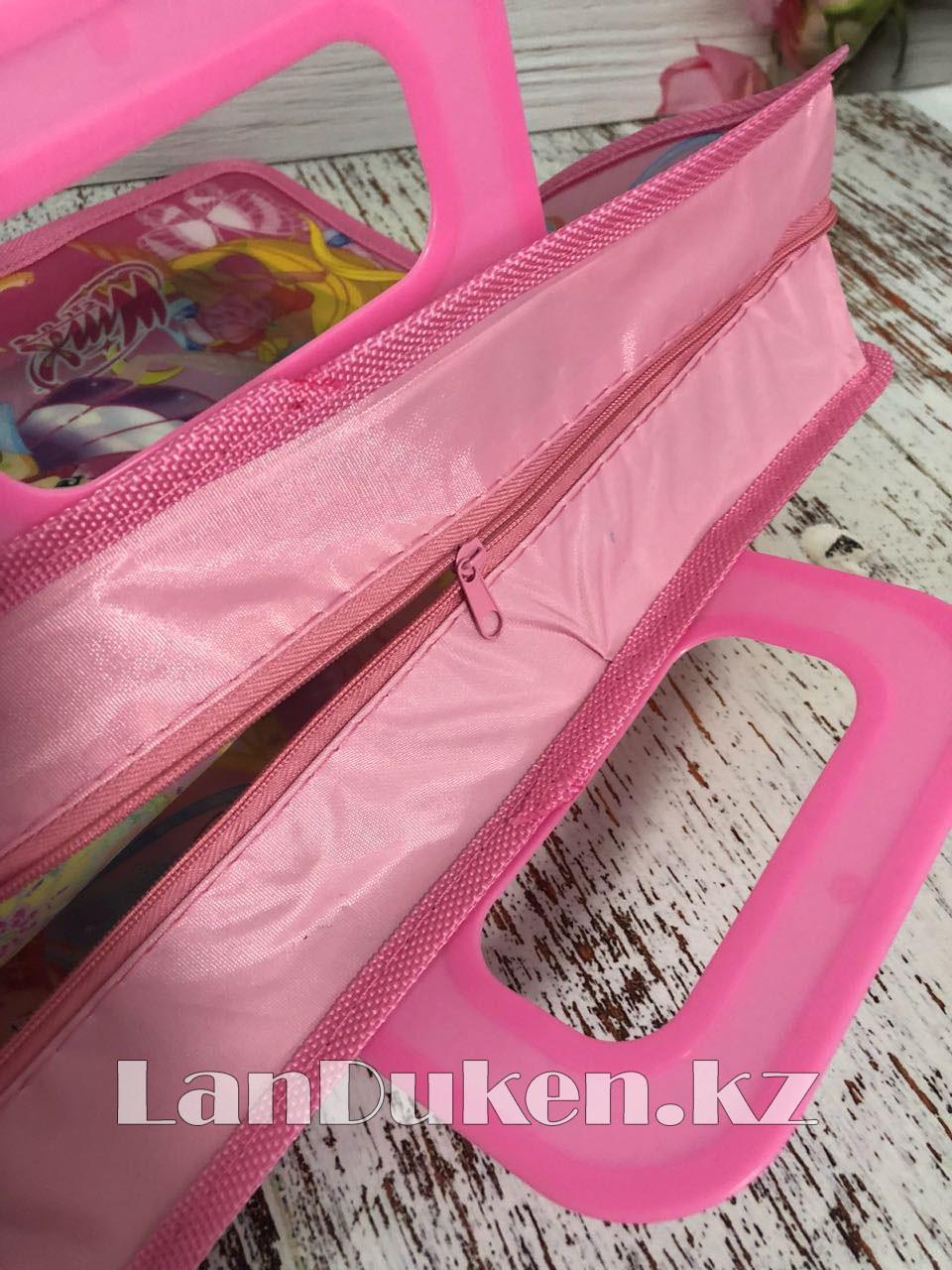 Детская папка-портфель с пластиковыми ручками Клуб Винкс (Winx Club) формат A4 розовая - фото 5
