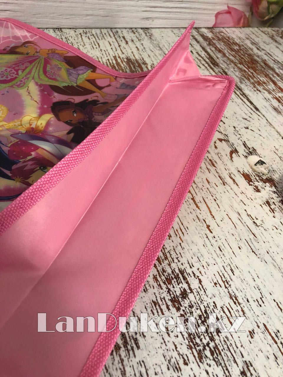 Детская папка-портфель с пластиковыми ручками Клуб Винкс (Winx Club) формат A4 розовая - фото 6
