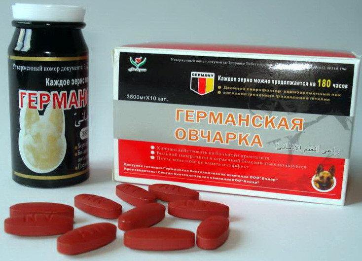 Мощный растительный препарат для улучшения эрекции Германская Овчарка