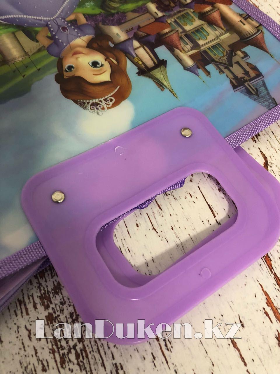 Детская папка-портфель с пластиковыми ручками София Прекрасная формат A4 фиолетовая - фото 3