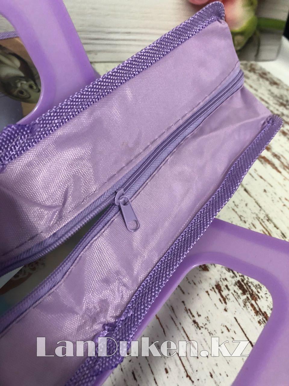 Детская папка-портфель с пластиковыми ручками София Прекрасная формат A4 фиолетовая - фото 4