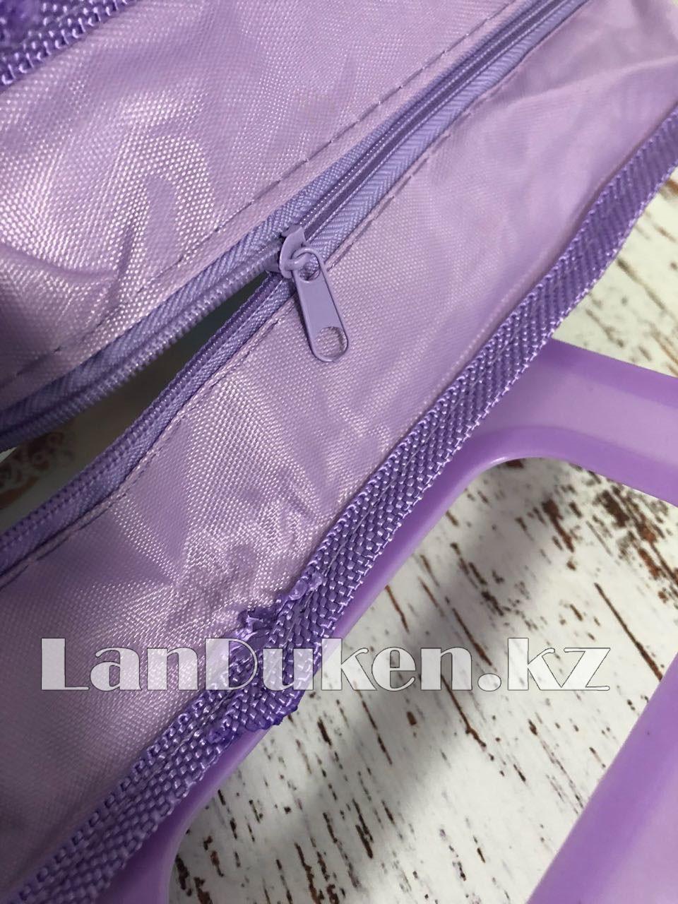 Детская папка-портфель с пластиковыми ручками София Прекрасная формат A4 фиолетовая - фото 6